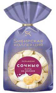 Пельмени Сибирская коллекция Сочные с фаршем на молоке, 430 г