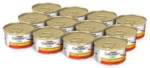 Влажный корм для кошек Gourmet Голд Нежные биточки, с говядиной, с томатами 12шт. х 85 г (кусочки в соусе)