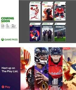 NHL 21 и другие игры пополнят каталоги подписок Xbox Game Pass и EA Play