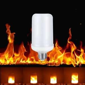 LED лампа с эффектом огня