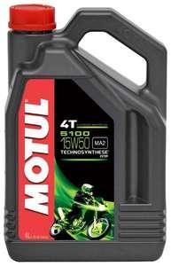 Полусинтетическое моторное масло Motul 5100 4T 15W50 (4 ЛИТРА) для МОТОТЕХНИКИ
