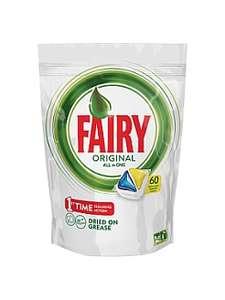 Капсулы для посудомоечной машины Fairy Original All In One Лимон (60 штук) за 843р. + доставка бесплатно.