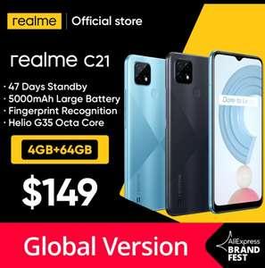 Смартфон Realme C21, 4/64 Gb