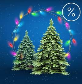 -10% на елки и гирлянды на Ozon'е до 10 декабря