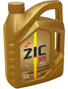 Моторное масло ZIC X9 5w40 4л
