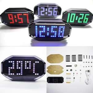 Набор сделай сам DIY часы (будильник, температура, напоминание о дне рождении и проч.) за 518р. (8,49$) + доставка бесплатно.