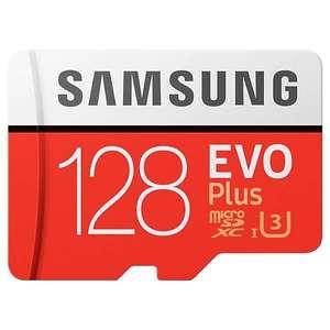 Карта памяти MicroSD Samsung 128GB EVO plus + SD адаптер (MB-MC128HARU), UHS-I, U3, class 10
