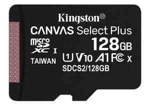 128ГБ Карта памяти Kingston Canvas Select Plus microSDXC (SDCS2/128GBSP), UHS-I, U1, class 10
