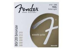 Струны FENDER STRINGS NEW ACOUSTIC 70XL 80/20 BRNZ BALL END 10-48