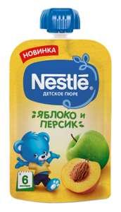 Пюре Nestlé яблоко и персик, с 6 месяцев, 90 г, 1 шт.