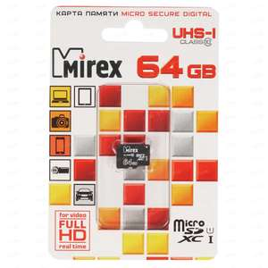Карта памяти Mirex microSDXC 64 ГБ 13612-MC10SD64