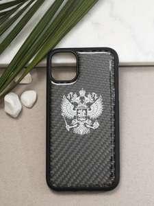 Luxury чехол для IPhone 11 CaseLand с гербом Челябинск