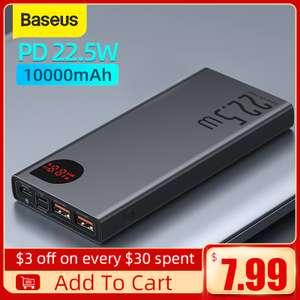 Powerbank Baseus 10000mAh, SCP, PD, QC/ 22.5 Вт