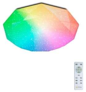 Светодиодный светильник с пультом , потолочная ЛЮСТРА - ALMAZ 60W RGB R
