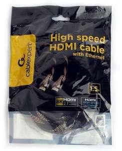 Кабель HDMI Cablexpert, v2.1, 8K, 19M/19M, 1.5м