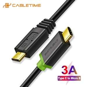 Кабель с разъемом Type-C\Micro USB 3A