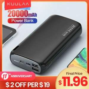 Внешний аккумулятор KUULAA 20000mAh, доставка из РФ