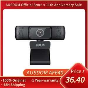 Веб-камера AUSDOM AF640 FullHD, с автофокусом и шумоподавлением