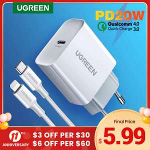Распродажа в Ugreen Official Store (например, устройство для быстрой зарядки Ugreen 4,0 3,0 QC PD)