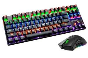 [Хабаровск] Клавиатура механика + мышь Jet.A Panteon GS800