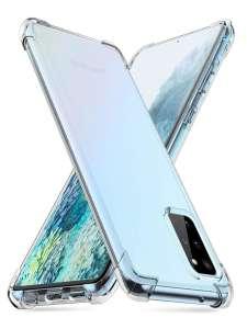 Противоударный чехол для Samsung Galaxy Note 10Lite/А81 силиконовый прозрачный с усиленными уголками Закончился