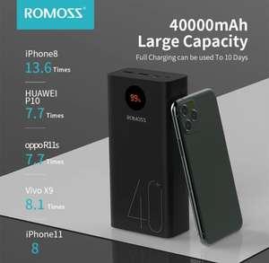 Внешний аккумулятор ROMOSS Zeus 40000mAh 18W