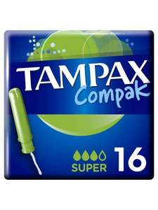 Гигиенические тампоны TAMPAX Discreet Compak super 16шт.