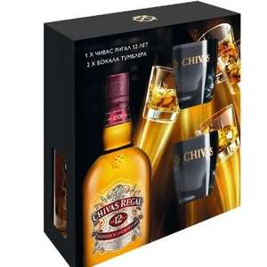 [МО] Виски CHIVAS REGAL 0.7л. + 2 стакана
