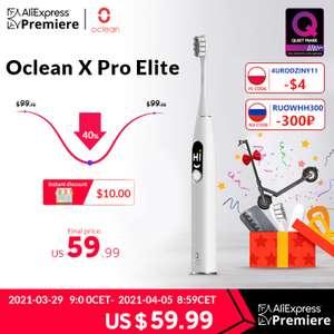 Электрическая зубная щетка Oclean X Pro Elite