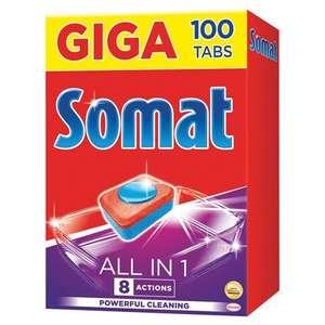 """Таблетки для посудомоечной машины SOMAT All in 1 """"Лимон и Лайм"""", 100 шт"""