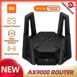 Роутер XIAOMI AX9000, трехканальный WIFI6 расширенная версия, четырехъядерный процессор, 1 ГБ ОЗУ, 4K QAM