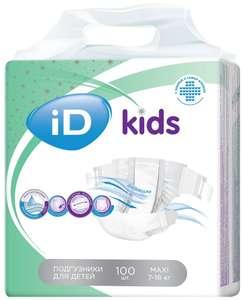 ID подгузники Kids Maxi (7-18 кг) 100 шт. 9,84 р/шт