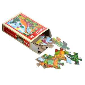 Вторая игрушка за 1₽ (например, 2 шт. Рыжий Кот пазлы 24 детали, картон, 17,5х13см)