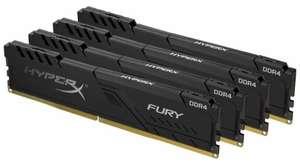 HyperX Fury 64GB (16GBx4) DDR4 3200MHz (5875р за плашку 16GB)