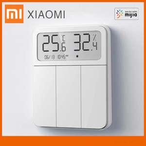 Умный настенный выключатель с индикатором температуры и влажности Xiaomi Mijia