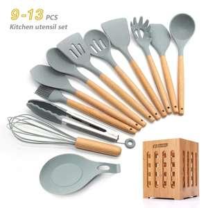 Набор кухонных приборов из силикона, 13 предметов