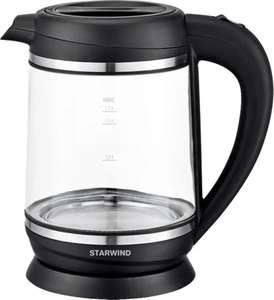 Чайник электрический STARWIND SKG6760, (2200Вт, подсветка, стекло, 1.7л)