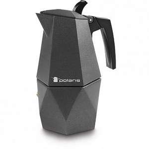 Скидки до 60% на технику Polaris, напр, Гейзерная кофеварка Polaris Kontur-4C