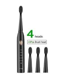 Электрическая зубная щетка IPX7 MEEGOU A1 + 3 сменные насадки