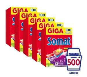 Somat All in 1 таблетки (лимон и лайм) для посудомоечной машины, 500 шт.