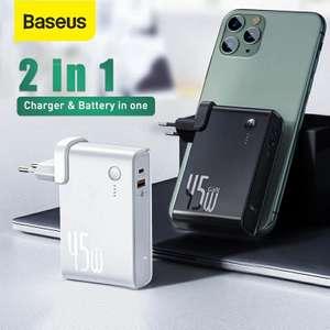 Зарядное утсройство 2 в 1 Baseus Gan 45W + 10000mah
