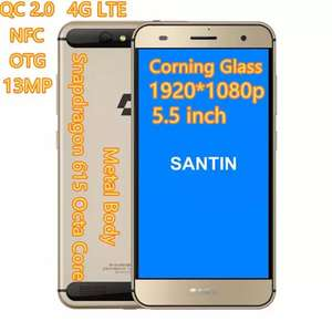"""Santin actoma ace 2/32gb , 4G , nfc , Full Hd , metal , quick charge 2.0 , snap 615 , 5.5"""" , otg"""