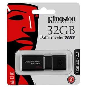 USB Флеш-накопитель Kingston DataTraveler 100 G3 32 ГБ, черный