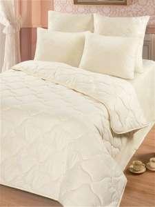 """Одеяло Золотые облака """"Овечья шерсть"""" деми 1,5 спальный, 140x205, с наполнителем Полиэфирное волокно"""