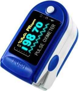 Пульсоксиметр медицинский (оксиметр) пульсометр на палец для измерения кислорода в крови + батарейки