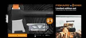 Набор Топор плотницкий малый + Складной нож Paraframe Fiskars, черный