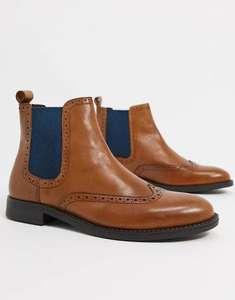 Светло-коричневые кожаные ботинки челси Dune