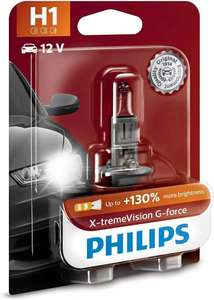 Лампа автомобильная Philips 12258XVGB1, H1 12V- 55W, P14,5s, +130% света+вибростойкая X-tremeVision G-force блистер, 1шт