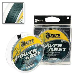 Шнур Akara Power Grey 100 м 0,20 в Рыбачок