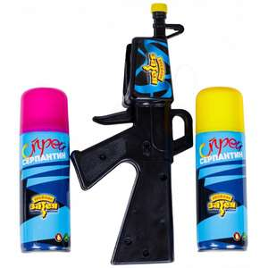 Пистолет + Спрей Серпантин 250мл 2шт
